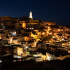 Matera in Basilicata by night, Italy