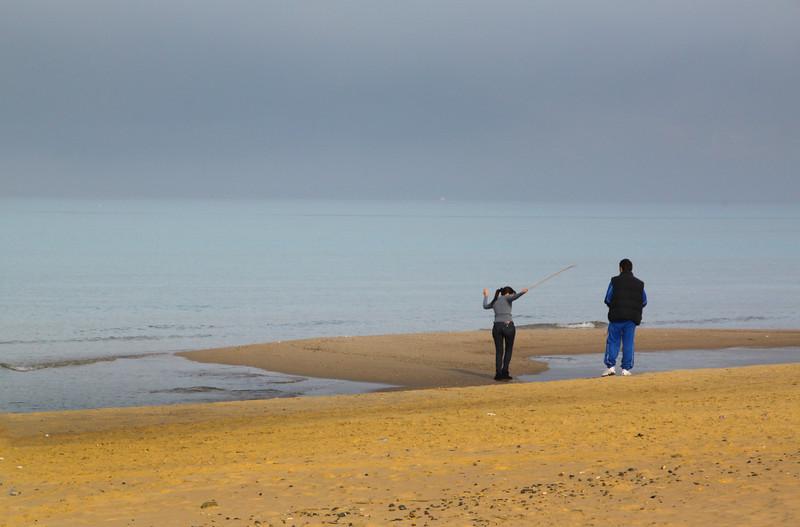 Sicily, Couple on Alcamo Beach