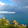 Sicily, View on Scopello with Approaching Winter Storm