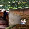 Sicily, Castellamare del Golfo, Old Men on Ancient Stairwell