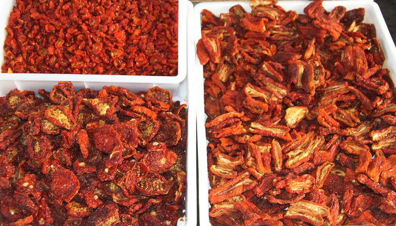 Sicily, Sun Dried Tomatoes, Market in Castellamare del Golfo