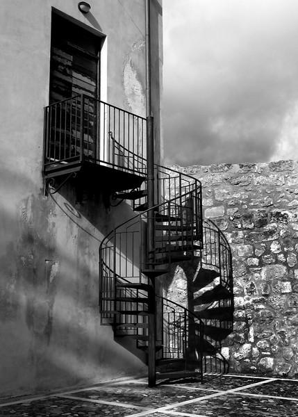 Sicily, Castellamare del Golfo, Ancient Stairwell
