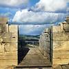 Sicily, View from Segesta Amphitheatre onto Castellamare del Golfo
