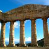 Sicily, Temple of Segesta, Massive Columns from Interior