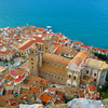 Sicily, Cefalu, Cathedral Basilica of Cefalu from Above