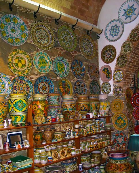 Sicily, Ceramics Shop, Santo Stefana di Camastra