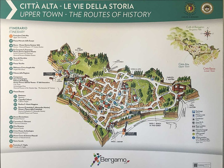 Tourist Map Of Bergamo Tourist Map Of Naples Tourist Map Of