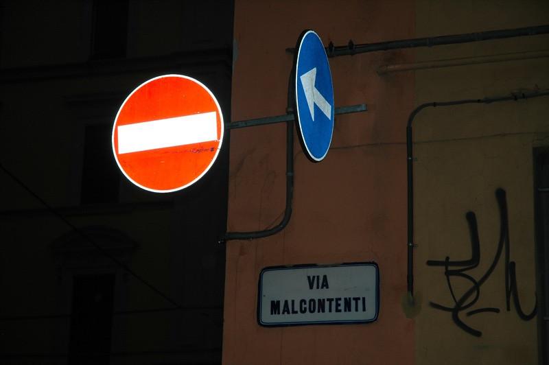 Road Signs - Bologna, Italy