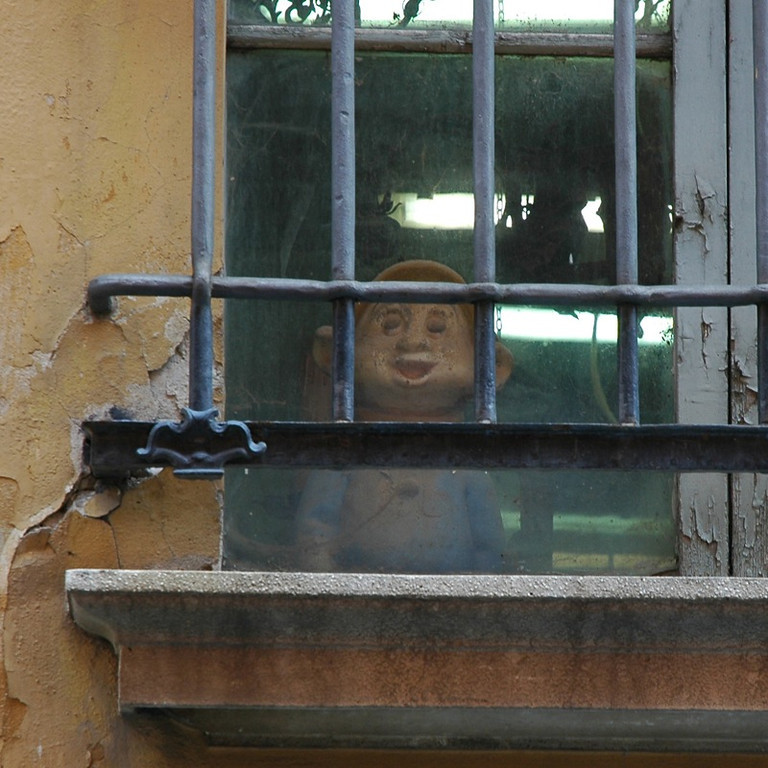 Peeking Out the Window - Bologna, Italy