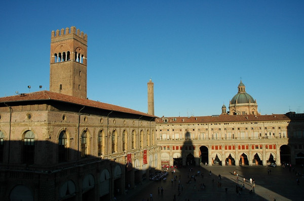 Shadows at Piazza Maggiore - Bologna, Italy