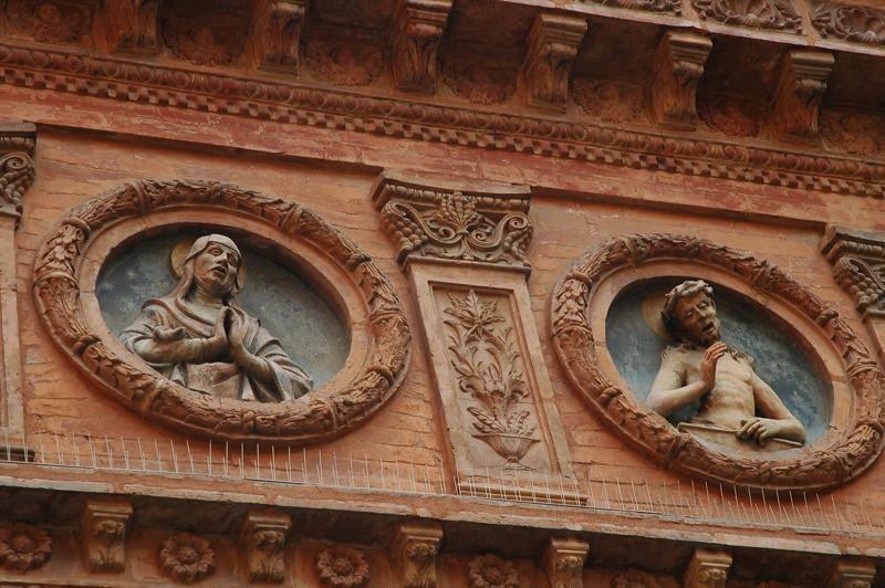 Beautiful Church Reliefs - Bologna, Italy