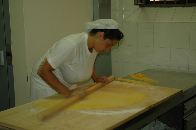 Rolling the Dough at a Sfoglini - Bologna, Italy