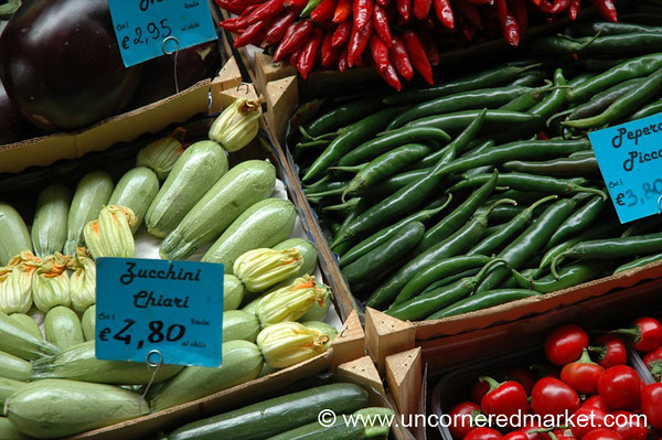 Market Vegetable Baskets - Bologna, Italy