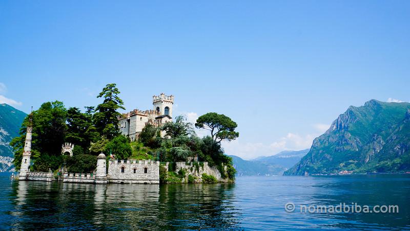 Loreto Island in Lake Iseo, Brescia (Italy)