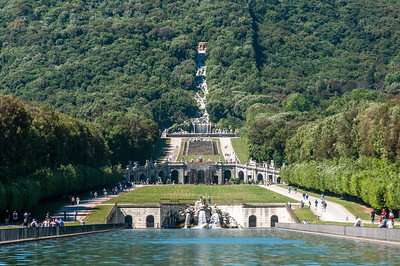 The Palace Gardens at Royal Palace of Caserta in Italy