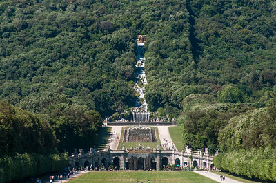 The Fountains at the Palace Gardens in Caserta, Italy