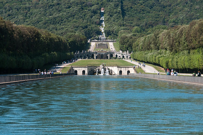 The Fountain and Palace Gardens at Royal Palace of Caserta - Italy