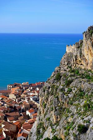 "La Rocca (""Rock"") in Cefalu, Sicily"