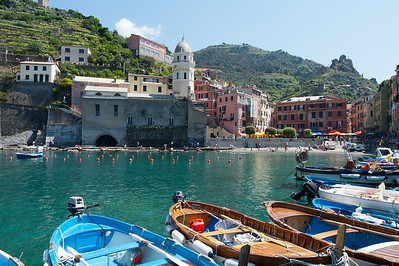 The Vernazza Harbor in Cinque Terre, Italy