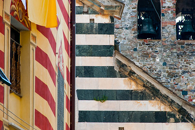 Colorful patterns on buildings at Cinque Terre, Italy
