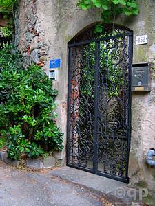 ORNATE GATE IN RIOMAGGIORE