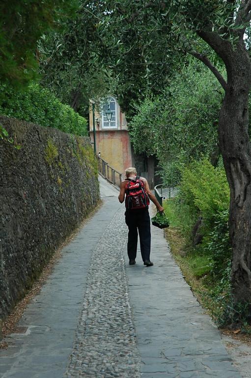 Man Walking - Portofino, Italy