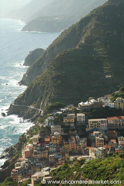 View of Riomaggiore - Cinque Terre, Italy