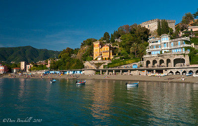 The seaside town of Levanto in the Cinque Terre Villages in Italy