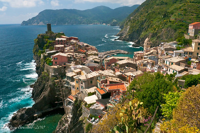 Vernazza  village along the Cinque Terre Villages in Italy