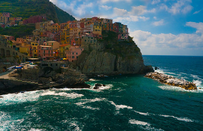 Leaving the village of Manarola Cinque Terre Villages in Italy