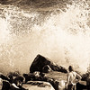 What a fascinating spectacle of the nature we can enjoy when a big wave hits the cliff!