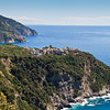 Breathtaking and highly colorful panoramic view where one can see Corniglia in the foreground and Manarola in the background.