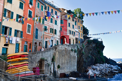 Colorful life scene at Riomaggiore.