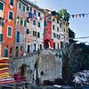 Colorful life scene at Riomaggiore.