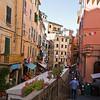 What a colorful street life scene at Riomaggiore.