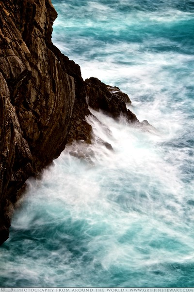 Waves Crashing in Cinque Terre