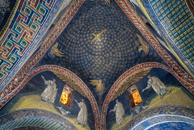Mosaics inside the Mausoleum of Galla Placidia