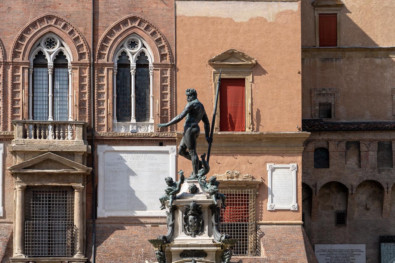 Fountain of Neptune in Bologna