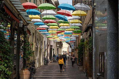 Umbrella street in Ravenna