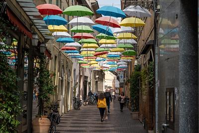 Umbrella street in Ravenna