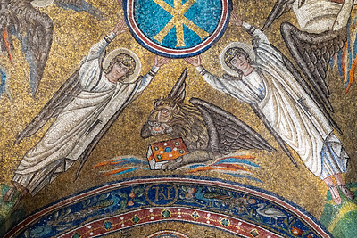 Mosaic in the Archiepiscopal Chapel in Ravenna