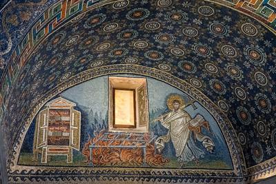 Mosaics inside the Mausoleum of Galla Placidia