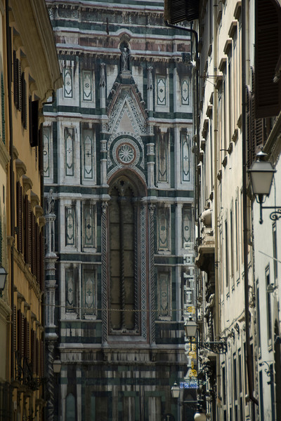 Isolated shot of Florence Cathedral window - Florence, Italy
