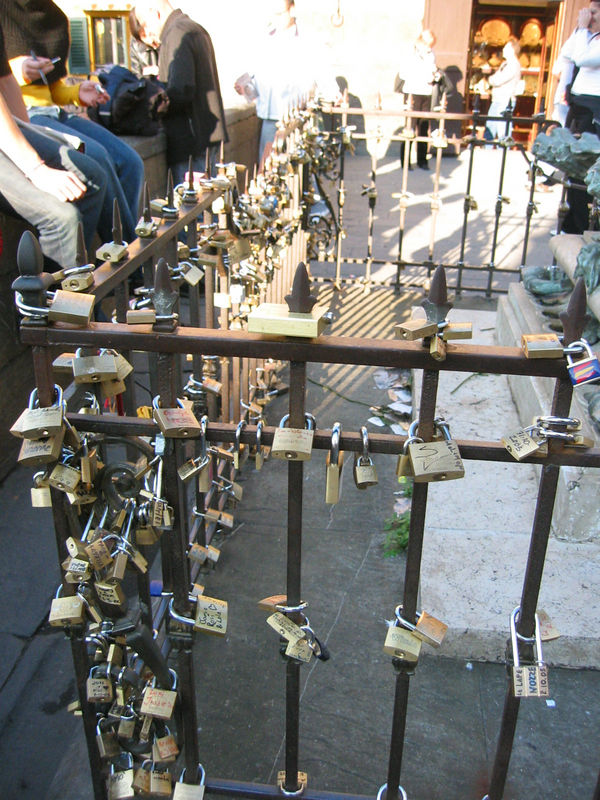 Locks on Ponte Vecchio