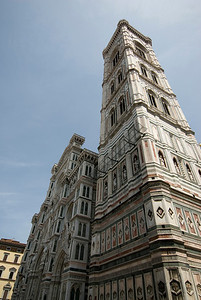 Giotto's Campanile in Piazza del Duomo in Florence, Italy