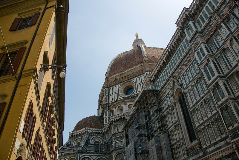 Looking up the Florence Cathedral dome - Florence, Italy