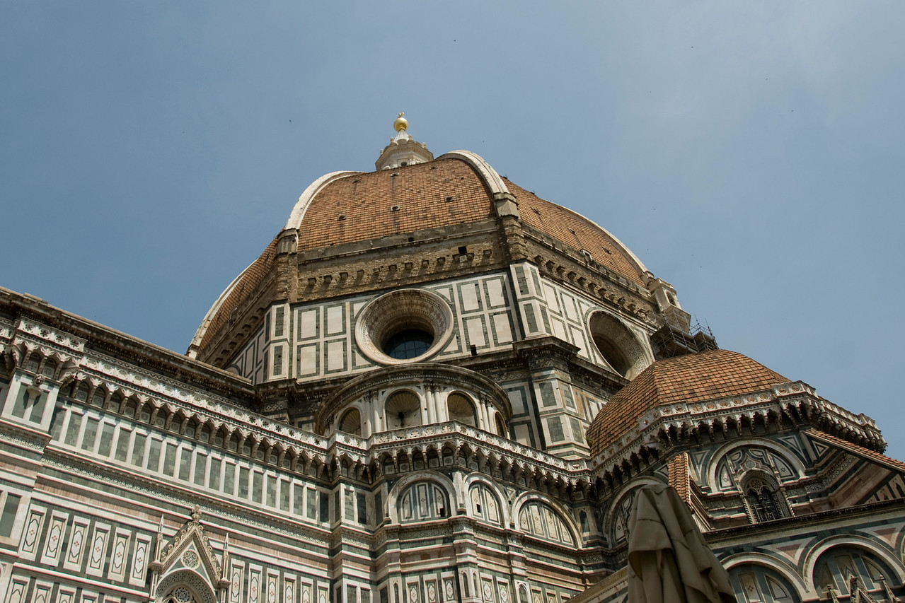 Close-up shot of Florence Cathedral dome in Florence, Italy