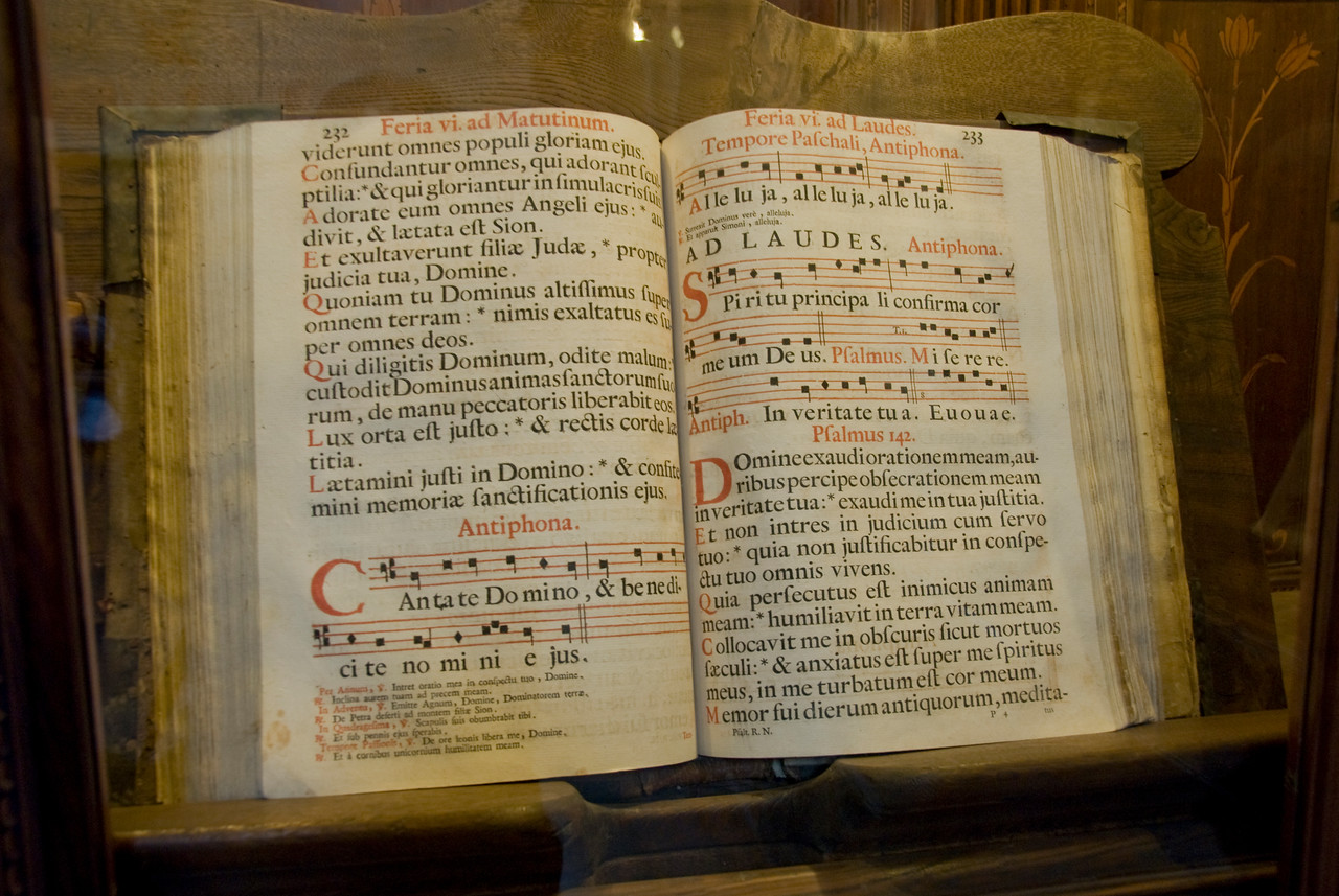 Old book found inside Santa Croce Basilica in Florence, Italy