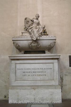 Florence - Basilica of Santa Croce - Machiavelli Tomb S