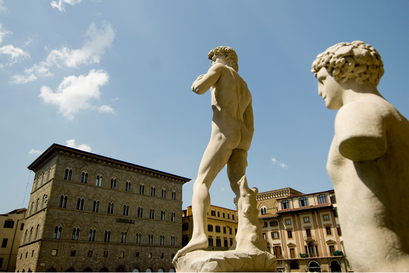 Replica of the statue of David by Michaelangelo at Piazza della Signoria - Florence, Italy